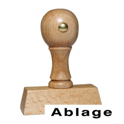 Holzstempel mit festen Text