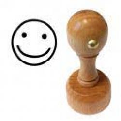Holzstempel Smileystempel