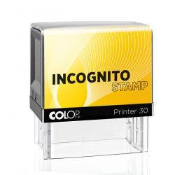 INCOGNITO PRINTER 30 Datenschutzstempel 18 x 47 mm