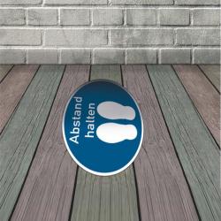 Fußbodenaufkleber rund Abstand halten