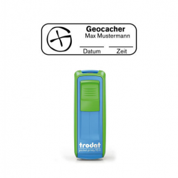 Mobile Printy 9411 Geocachingstempel Motiv Standort m. Rahmen