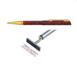 Heri Diagonal 3089 Stempelkugelschreiber 34x8 mm Graffiti Design rot