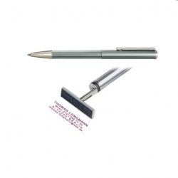 Heri Classic 3100 Stempelkugelschreiber 34x8 mm Silber