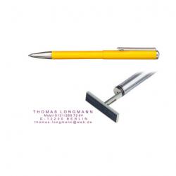 Heri Classic 3107 Stempelkugelschreiber 34x8 mm Gelb