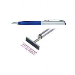 Heri Kugelschreiber Diagonal Color 6031  silber/ blau