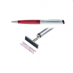 Heri Kugelschreiber Diagonal Color 6041 silber/ rot
