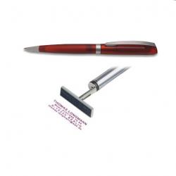 Heri Kugelschreiber Diagonal Color 6042 silber/ brombeer-rot