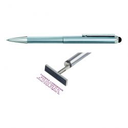 Heri Smartpen Stempel 3300 Stempelkugelschreiber 34x8 mm Silber