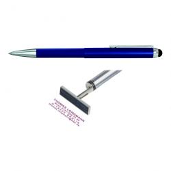 Heri Smartpen Stempel 3303 Stempelkugelschreiber 34x8 mm Blau