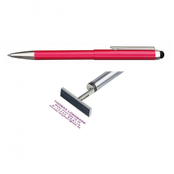 Heri Stamp & Touch Pen 3304 Stempelkugelschreiber Rot