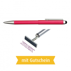 Heri Stamp & Touch Pen 3304 Stempelkugelschreiber Rot mit Gutschein