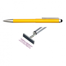 Heri Stamp & Touch Pen 3307 Stempelkugelschreiber Gelb