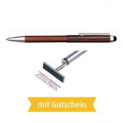 Heri Stamp & Touch Pen 3308 Stempelkugelschreiber Grün mit Gutschein