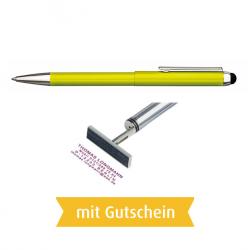 Heri Stamp & Touch Pen 3309 Stempelkugelschreiber Grün mit Gutschein
