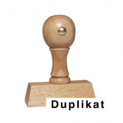 Holzstempel mit Text: Duplikat