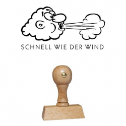 Holz Motivstempel Motiv Q15 Schnell wie der Wind