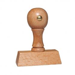 Holz Motivstempel Motiv Q16 Heller Kopf