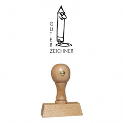 Holz Motivstempel Motiv Q18 Guter Zeichner