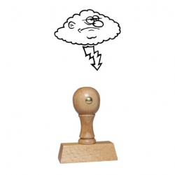 Holz Motivstempel Motiv Q24 Gewitterwolke