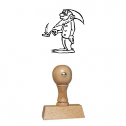 Holz Motivstempel Motiv Q32 Wichtel