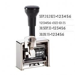 Reiner Paginierstempel Modell 9 Numeroteur mit Datum links 4,5 mm