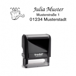 Trodat Printy 4912 individueller Schulstempel Nr. 5 Lesewurm