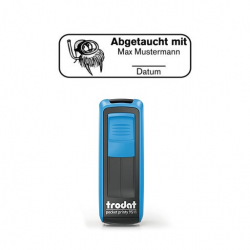 Pocket Printy 9511 Tauchstempel 59 Taucherstempel Seerobbe