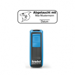 Mobile Printy 9411 Tauchstempel 64 Taucherstempel Hai eckig