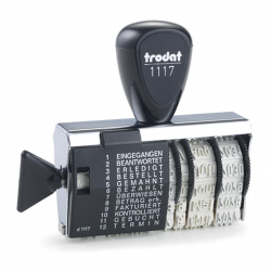 Trodat Wortbandstempel 1117 mit Datum 4mm