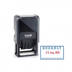 Trodat Printy 4750/L2 4.0 Datumstempel BEZAHLT 41x24 mm