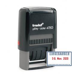 Trodat Printy 4750/L1 Datumstempel m. Lagertext EINGEGANGEN 41x24 mm