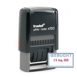 Trodat Printy 4850/L7 Datumstempel GEBUCHT 25x5 mm