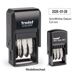 Trodat Printy 4810 Datumstempel ISO 20x3,8 mm