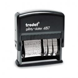 Trodat Printy 4817/B Dater mit Wortband Montag-Sonntag 49x3,8 mm