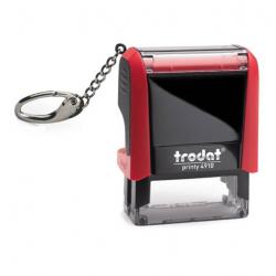Trodat Printy 4910 mit Schlüsselanhänger - Textstempel 26x9 mm
