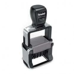 Trodat Professional 5430/L 4.0 Datumstempel blau/rot mit Lagertext 41x24 mm