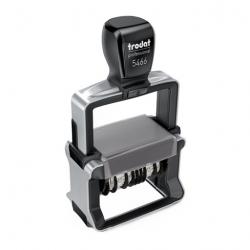 Trodat Professional 5466/PL 4.0 mit Doppeldatum und Text 56x33 mm