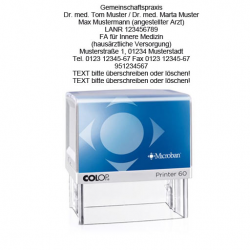 Colop Printer 60 Microban Arztstempel - Praxisstempel m. individuellem Text