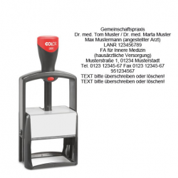Colop Classic Line 2800 Microban Arztstempel individueller Text 11-zeilig