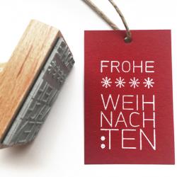 Kreativstempel aus Holz mit Weihnachtsmotiv