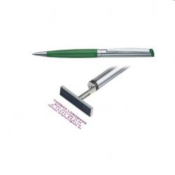 Heri Diagonal Wave 6291 Stempelkugelschreiber grün/silber