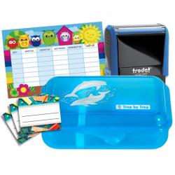 Schulbox Delfin mit Trodat Printy 4912
