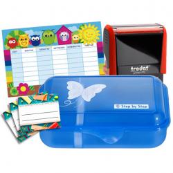 Schulbox Schmetterling mit Trodat Printy 4912