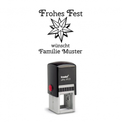 Trodat Printy 4923 06 Motiv Stern mit Text Frohes Fest
