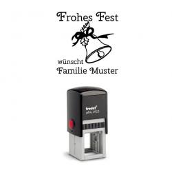 Trodat Printy 4923 09 Motiv Glocke mit Text Frohes Fest