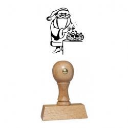 Weihnachtsstempel 11 Holz Motiv Nikolaus