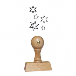 Weihnachtsstempel 15 Holz Motiv Sterne