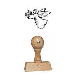 Weihnachtsstempel 17 Holz Motiv Engel