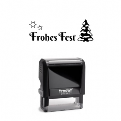 Trodat Printy 4912 Weihnachtsstempel 24 Frohes Fest